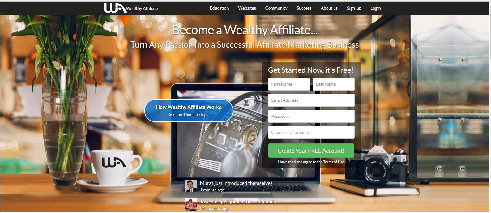Build a Website at Wealthy Affiliates