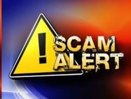 Scam Alert Banner for Scamsters and Fraud Online