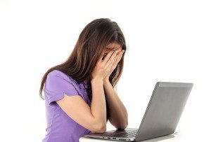 Internet Frauds and Scams-girl crying