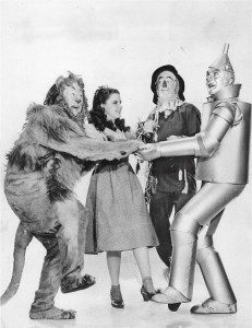 Wizard of oz characters in a picture -magical thinking for Strawman and Redemption Frauds