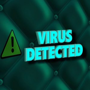 Internet Scams That Lock Your Computer a picture of the words-virus detected