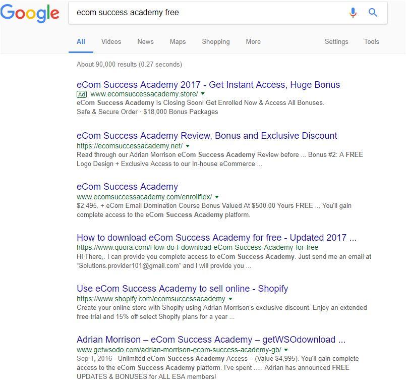 eCom Success Acadamy Free Downloads