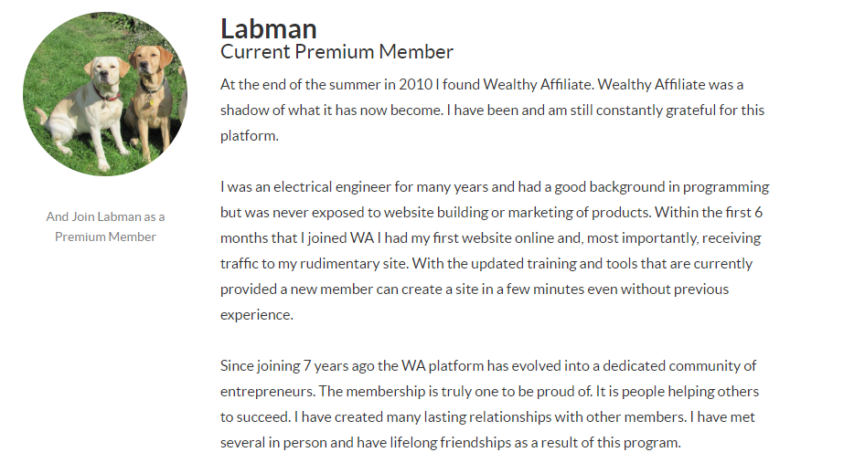 Image of Wealthy Affiliate Member - Labman