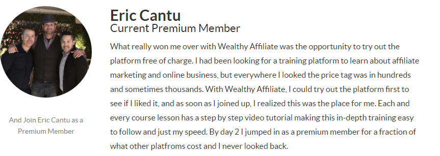 Image of Wealthy Affiliate member - Eric Cantu