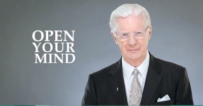Image of Bob Proctor saying Open Your Mind for Is Bob Proctor a Scam Article