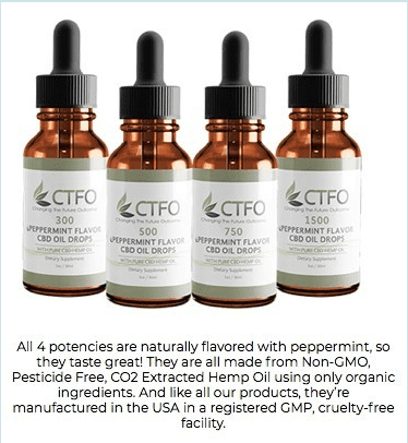 4 Bottles of CFTO-Full Spectrum CBD OIL