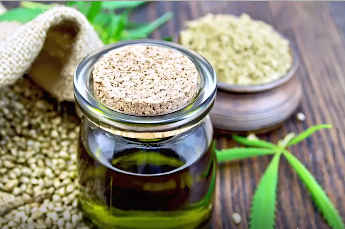Jar Of Hemp OIl and Seeds