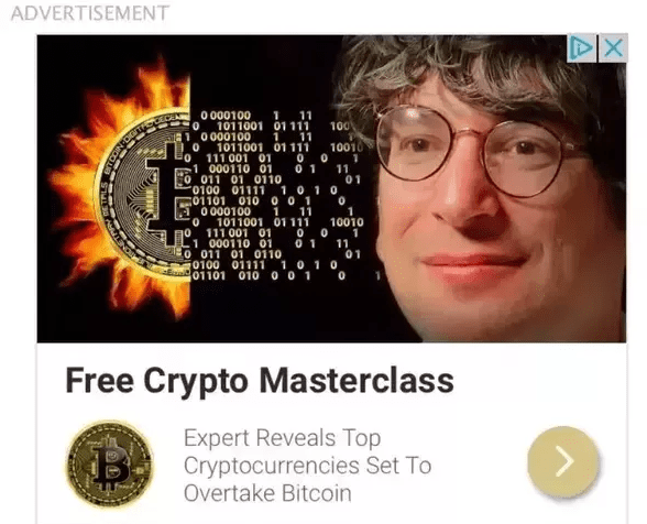 James Altucher Ad For Crypto Currency