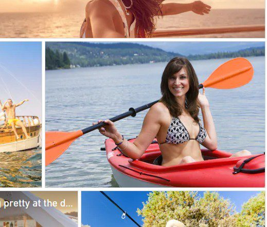 A Stockphoto Of The Woman called Megan Harpster In the Same boat with the same bikini for Explode My Profits Article
