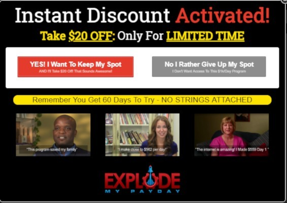 Instant $20 Discount For Explode My Profits