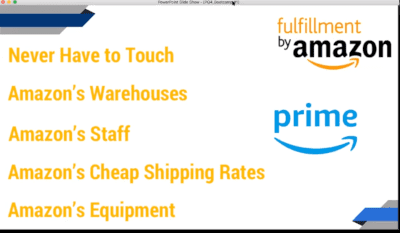 FBA Filliment By Amazon means no handling of Amazon Productsts