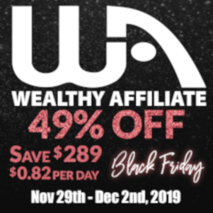 Banner Image of Wealthy Affiliates Black Friday Special