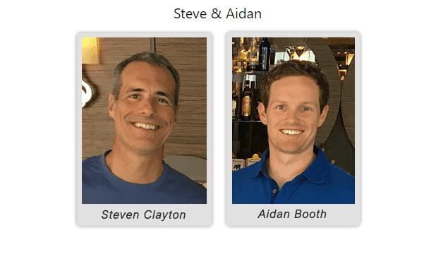 Steve Clayton And Aidan Booth