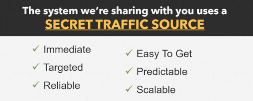 The Undergroung Sales System Uses A Secret Traffic Source