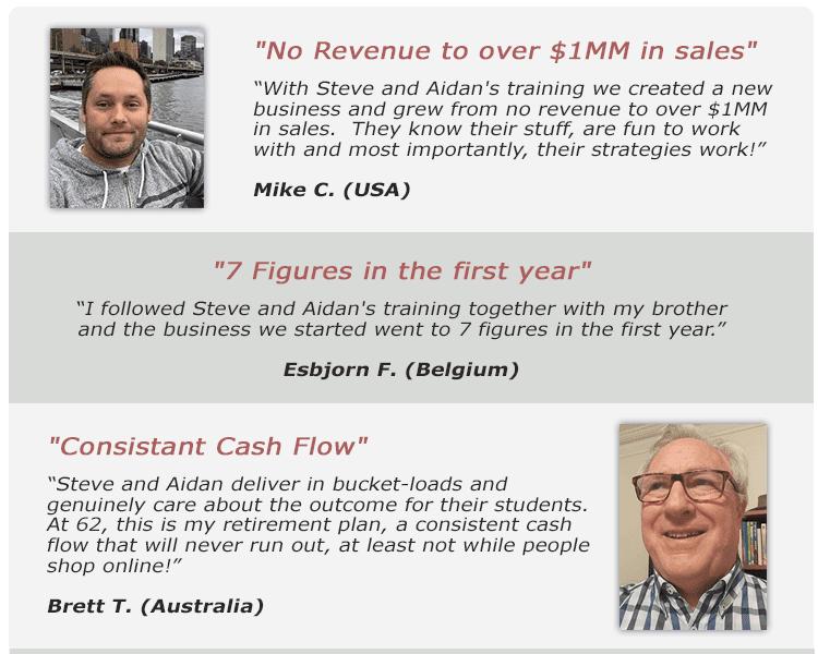 Testimonials for the Underground Sales System