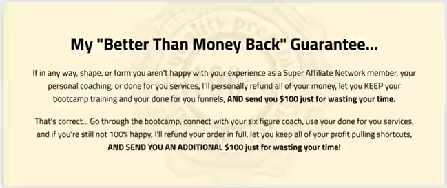 The Super Affiliate Network Refund Guarantee