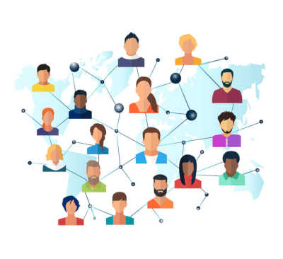 Image Of Group Of People Interconnected Representing Contact Tracing For Covid Scams You Can Avoid