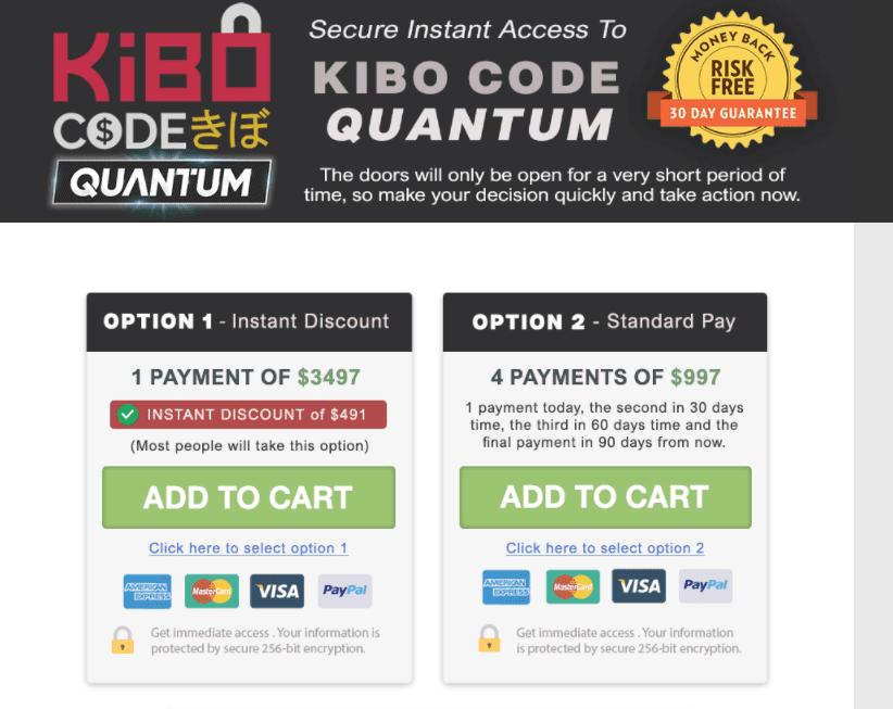 The Kibo Code Quantum Payment Methods