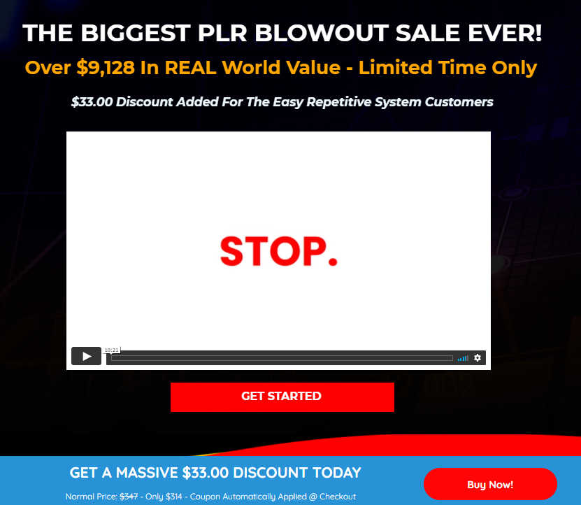 The Easy Repetitive System Upsell 4 PLR Blowout Sale